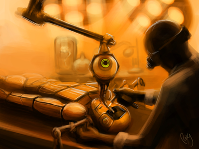 Robot Operation cyborg scifi art scifi robotics lab robot operation robot