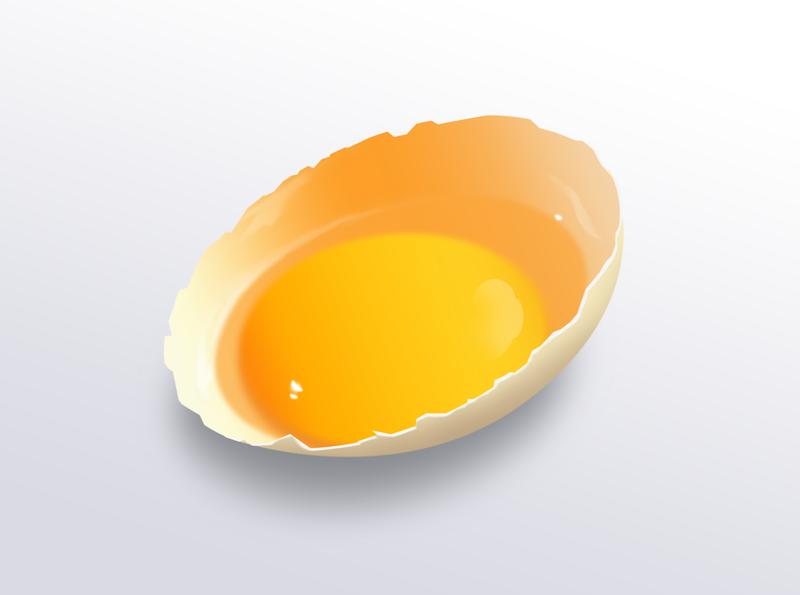 鸡蛋壳临摹 uiux icon art illustration design
