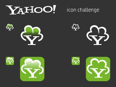 Yahoo green icon flat