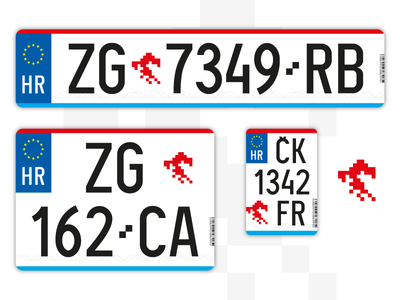 Croatian vehicle plates redesign