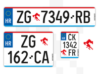 Croatian vehicle plates redesign