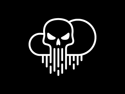 Cloudhack mohldesign cloud hack skull security cloud computing