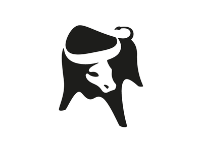 Black Bull mohldesign bull illustration mark identity logo symbol brand negative space