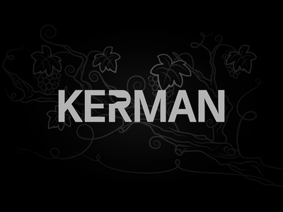 Kerman Wines Logo logo symbol mohldesign negative space monogram brand identity