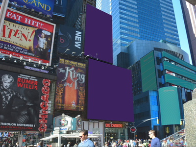 Times Square digital billboard ad for DuckDuckGo figma after effects animation advertising billboard design times square