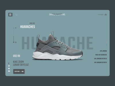 Shoe Store E-commerce Platform PSD Template minimal website web design ux ui photoshop template temple psd ecommerce store shop shoe