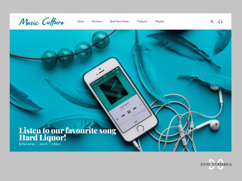 Music Blog logo design product design ui design uiux dribbble best shot music app ui music