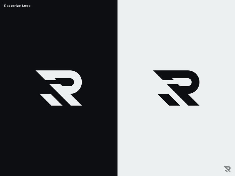 Razterize Logo Design r logo monogram letter r letters branding minimal flat design icon vector logo