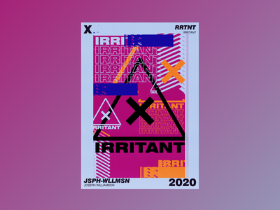 IRRITANT experimental typography illustration abstract aesthetic design poster challenge poster design poster a day graphic design
