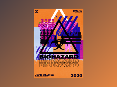 BIOHAZARD experimental typography illustration abstract aesthetic design poster challenge poster design poster a day graphic design