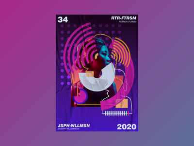RETROFUTURISM experimental illustration abstract futuristic aesthetic design poster challenge poster design poster a day graphic design