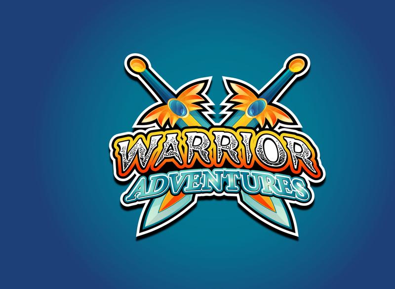 Warrior Adventures vector design creative logo creative blue swordsman adventure warrior