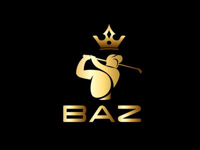 BAZ sport player black crown branding premium golden golf player golf