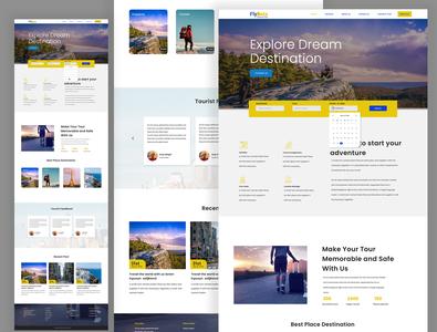 Travel agency website uiux ux product design designer ui design