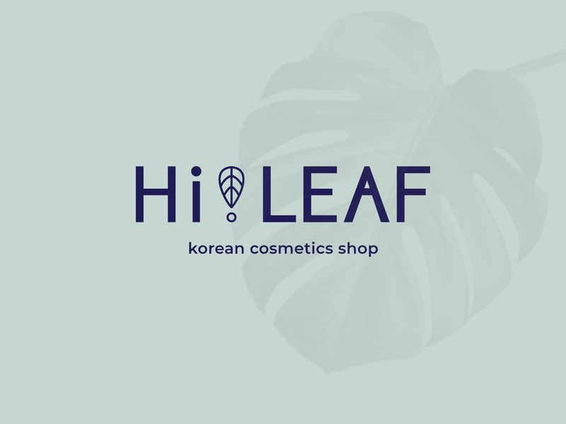 Hi!LEAF cosmetics cosmetic logo branding graphicdesign instagram post corporate identity identity design logotype logo