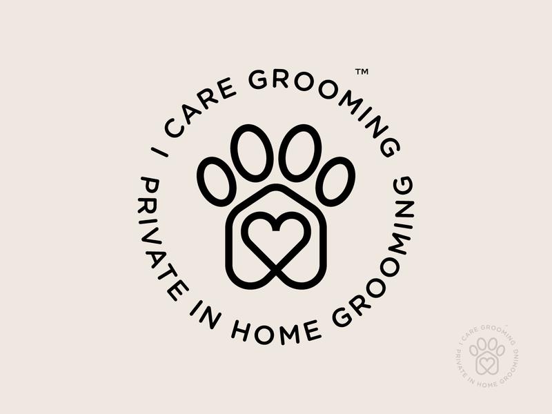 I Care Grooming (circle badge version)