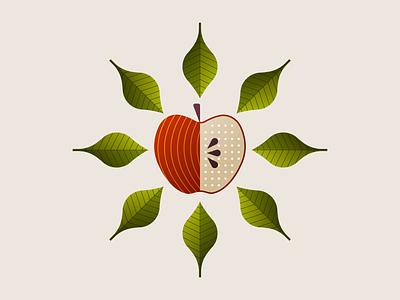Apple Illustration minnesota crisp seed leaves illustration fruit apple