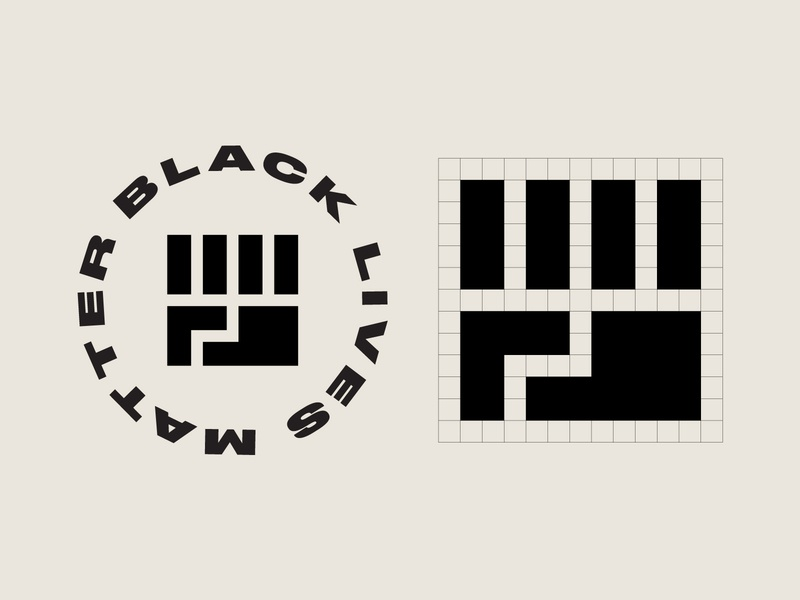 Black Lives Matter humanity symbol icon logo badge circle badge typography fist black lives matter