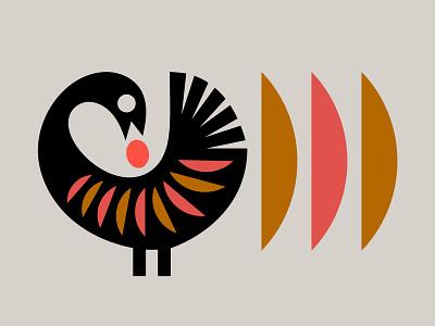 Sankofa illu modern nature symbol icon logo illustration africa sun egg bird