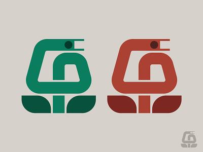 Garden Snake nature symbol icon logo gardening leaf plant snake plant snake logo g garden snake