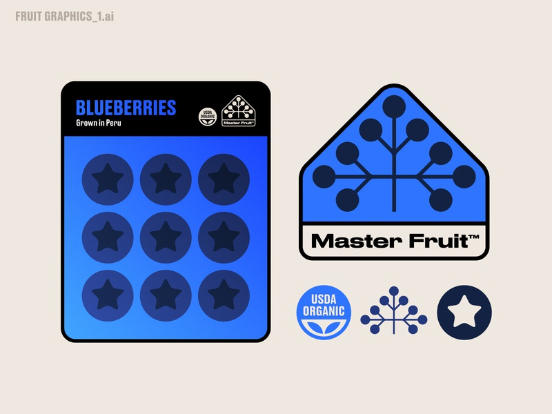 FRUIT GRAPHICS_1.ai illustration nature logo tree produce symbol icon label sticker packaging fruit blueberries blueberry
