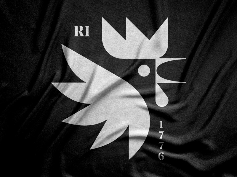 Longest Name, smallest state illustration nature serif typography apparel design modern symbol icon rhode island red bird rooster chicken state usa rhode island