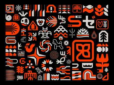 A place for rejects snowflake chicken modernism logotype typography flowers trees leaves birds nature symbol icon logo rejected logo rejects