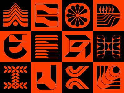 36 Days of Type 2021 (A-L) lettering l k j i h g f e d c b alphabet wordmark logotype typography type