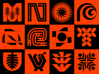 36 Days of Type 2021 (M-X) pine birds modernism nature x w v u t s r q p o n m wordmark logotype typography type