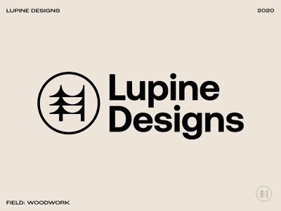 Lupine Designs identity pacific northwest pnw forestry nature identitydesign icon logo wooden oregon portland forest pine trees trees woodworking wood pine lupine
