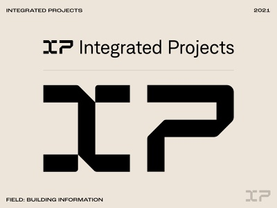 IP identity design modern typography wordmark logotype symbol identitydesign identity logo tech technology data construction building architecture