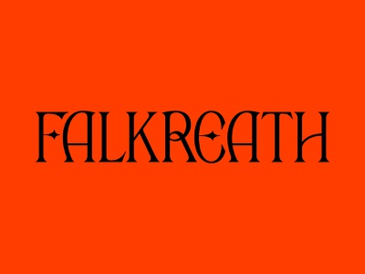 FALKREATH custom type typography type folklore fantasy medieval elder scrolls skyrim falkreath