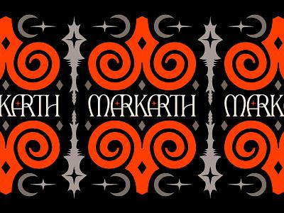 Markarth Skyrim Illustration card heraldry skull symbol nature icon crescent moon moons diamonds stars gaming markarth elder scrolls illustration horns sheep ram medieval skyrim