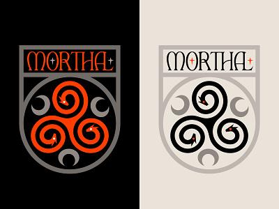 Morthal Seal (Skyrim) illustration symbol nature folklore hold morthal triskelion serpant dragon heraldry crest seal medieval gaming elderscrolls elder scrolls skyrim
