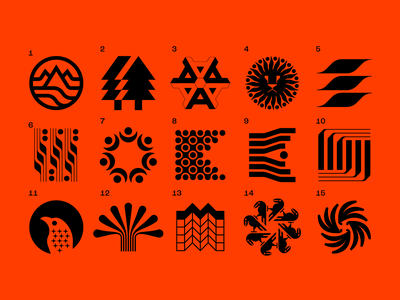 Croma Beer selections tree sun lion moons field yeast wheat crows birds bananas abstract type monograms logotypes symbols icons beer art beer label beer