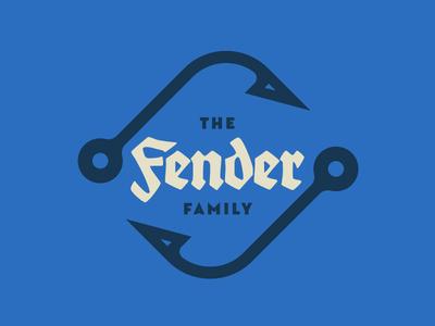 Family Crest german mark germany logo design typography fender fishing hook family crest