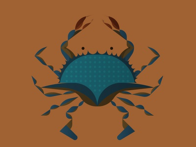 Crab symbol seafood crustacean usa illustration icon nature leaf oak crab maryland