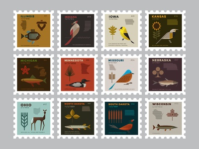 Midwest stamps