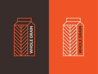 Whole Grain Icon packaging beverage barley wheat rice grain milk whole grain symbol carton logo icon