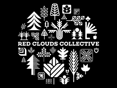 Red Clouds Collective icons portland oregon pnw trees leaves circle nature