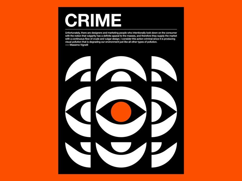 Crime Poster modern modernism symbol eye poster