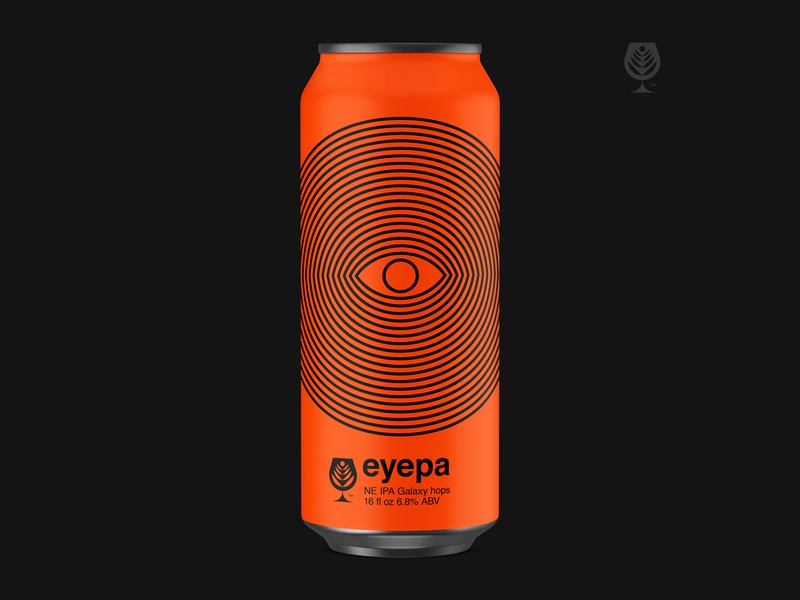 Eyepa lines ipa eye label art packaging beer label beer