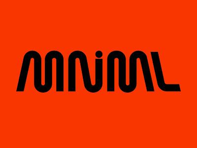 MNML minimal lettering typography