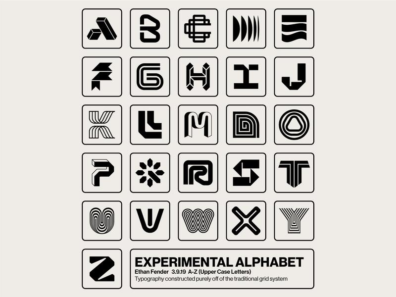 A-Z poster identity logotype logo modern letterform lettering alphabet