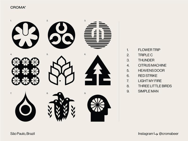 Croma Beer beer symbols branding packaging icons brewery
