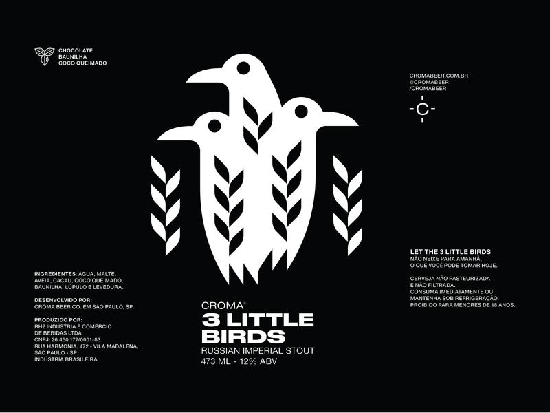 Three Little Birds brewery stout birds crows beer label beer