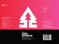 Red Strike beer label
