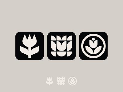 garden app iconography ui nature garden tulips flower iconography icon app