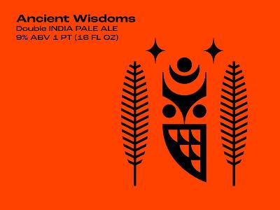 Ancient Wisdoms packaging illustration bird owl beer label beer art beer can beer branding