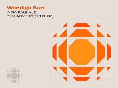 Wendigo Sun beer branding beer can beer art beer label arizona native american navajo sun